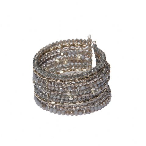 GREY BEADED WIRE BRACELET